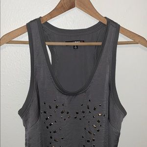 William Rast Silky Gray Tank